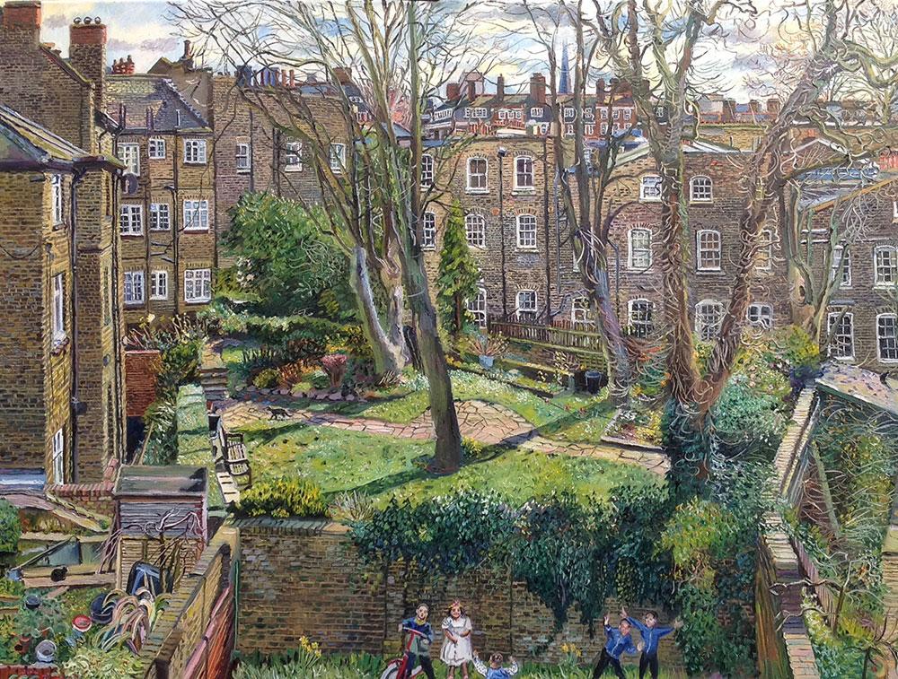 Bloomsbury backgarden for 17 carlton house terrace london