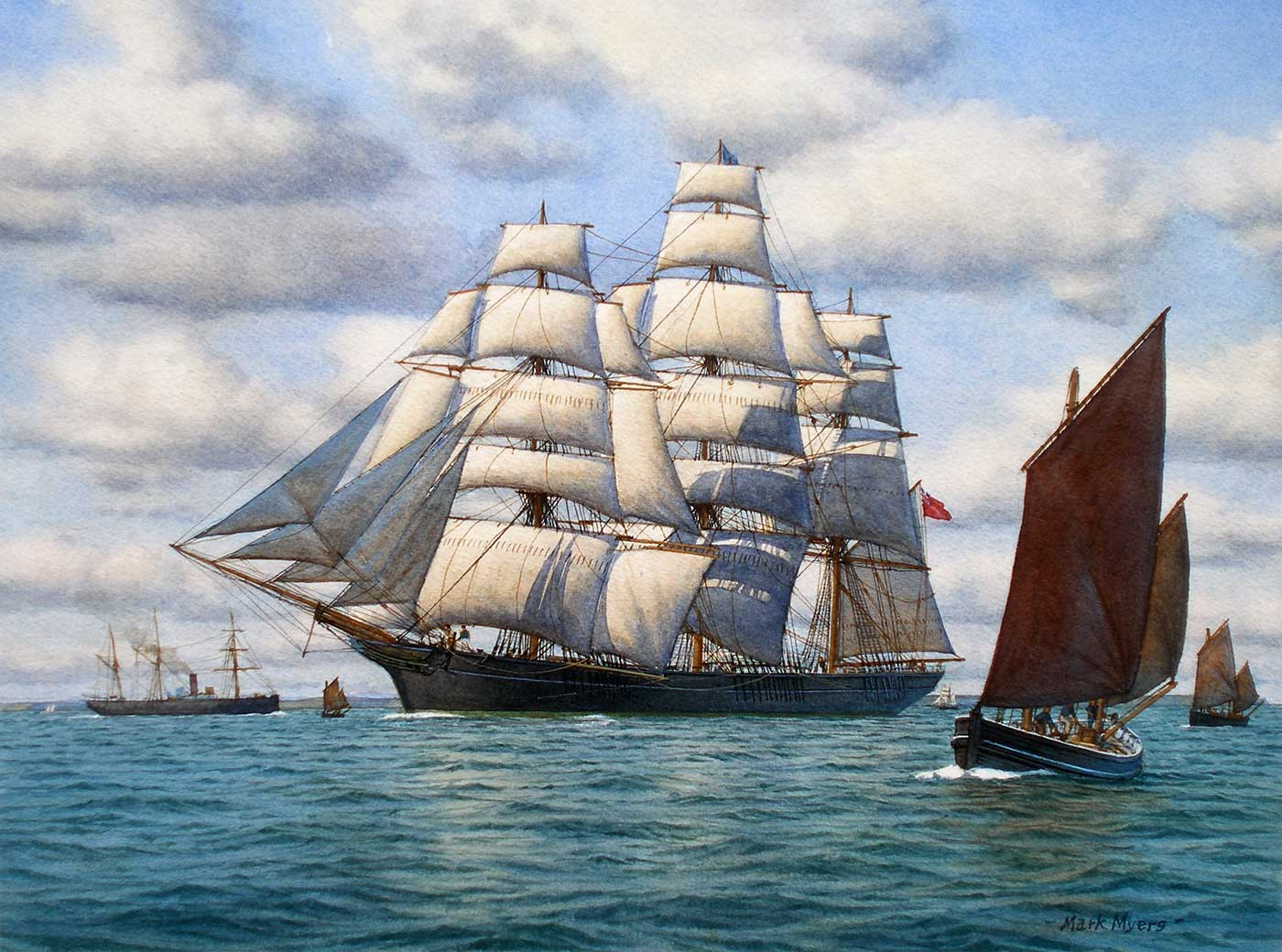Behind The Scenes Mark Myers Pprsma S Maritime Paintings Mall Galleries