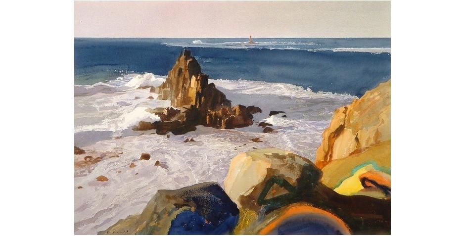 'Longships Lighthouse from Land's End'- Bob Rudd RI..jpg