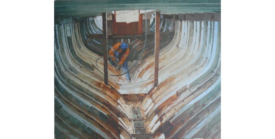 Richard Dack RSMA, Shipwright at Work