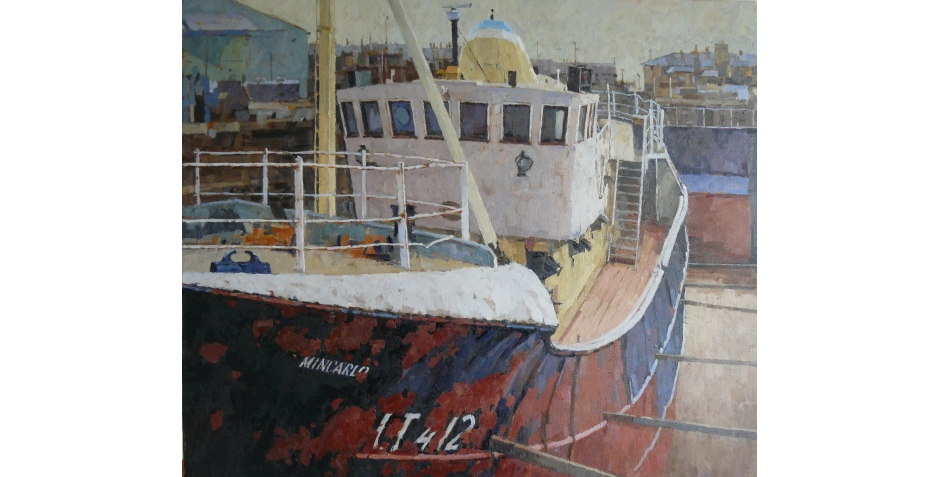 Richard Dack RSMA, The Heritage Trawler Mincarlo