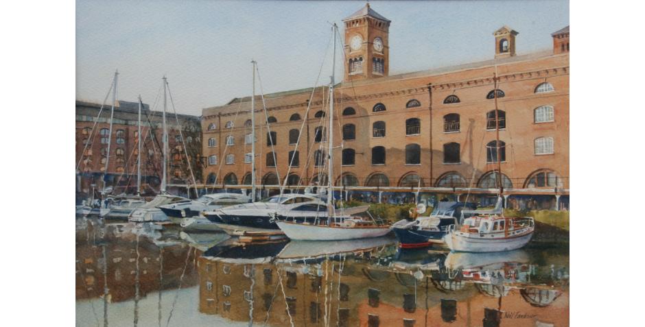 Faulkner, Neil. St. Katherine Docks.png