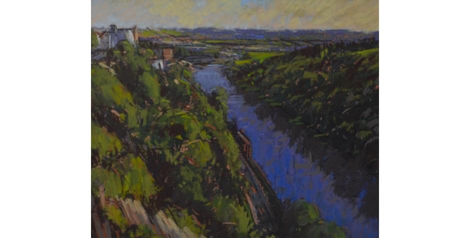 Hodges - Simon - Avon Gorge, Bristol (pastel).JPG
