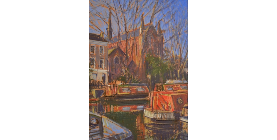 Hodges - Simon - The Grand Union Canal, London (pastel).JPG