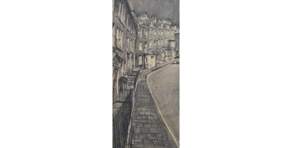 Hodges - Simon - The White entrance, Bath (charcoal).JPG
