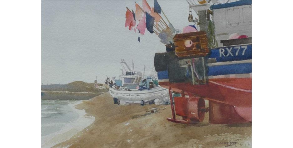 Fishing flags, Hastings beach