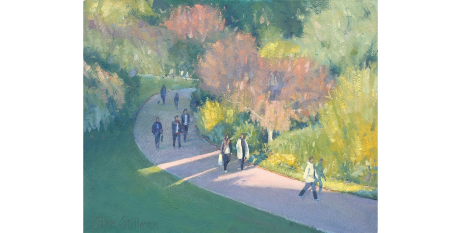 "Walk in the park, St.James, London 8""x10"""