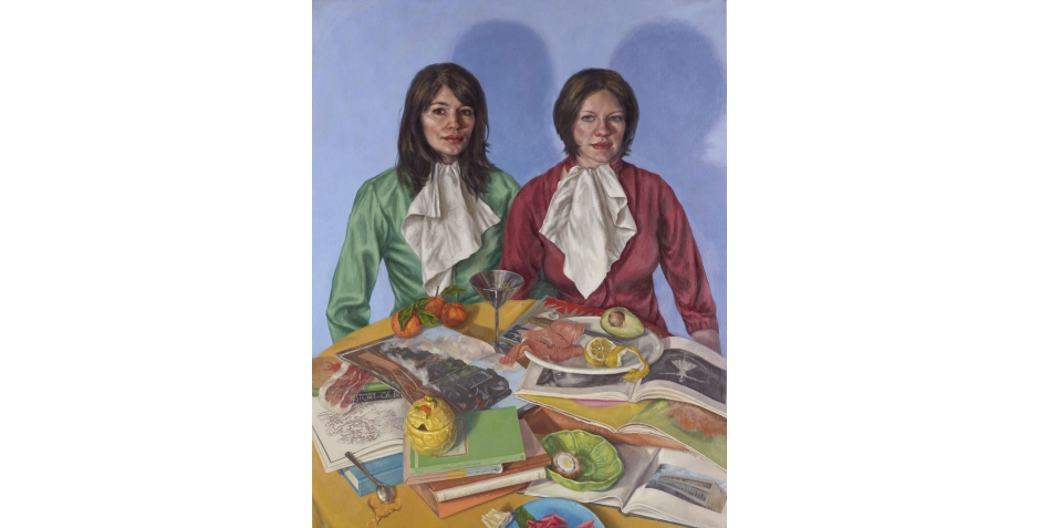 'Portrait of the Artist and Her Wife' oil painting by Roxana Halls