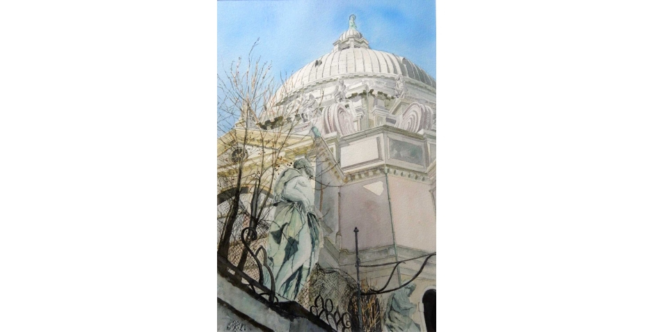 'Santa Maria della Salute' watercolour painting by Diana Sheldon