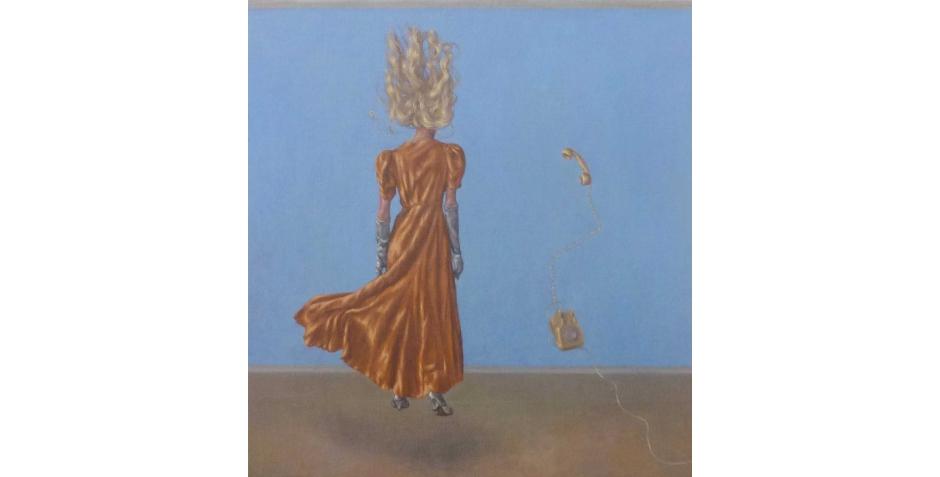 """Blue Room"" Oil on Linen by Roxana Halls"