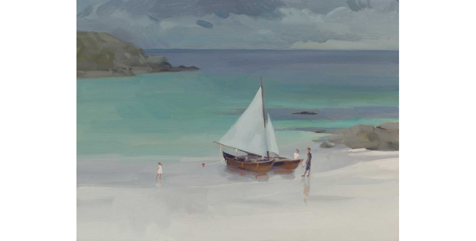 'Achmelvich Beach' oil painting by Frances Bell