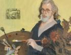 Alexander Goudie Self portrait - Hommage to Van Gogh', 97x102cm; Oil and chalk on canvas.jpg