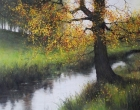 Autumn Reflections David Brammeld Royal Society of British Artists Pastel Society