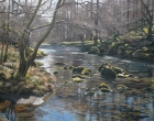 River Derwent, Borrowdale, Oil 18x27.5ins, by Peter Barker.JPG