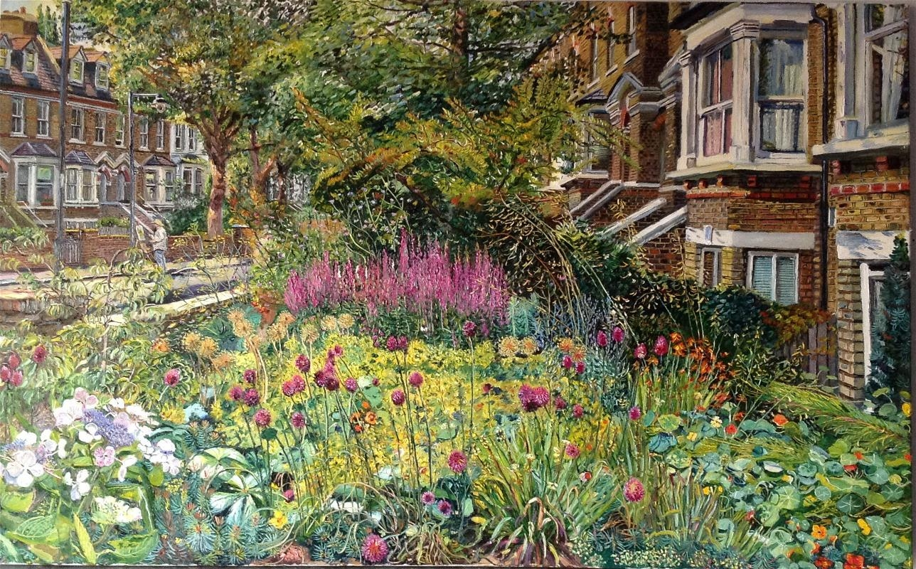 Front garden with self painting for 17 carlton house terrace london