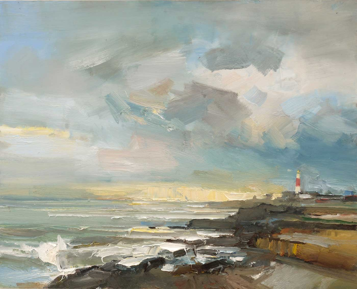 Image result for autumn by the sea in painting