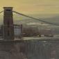 Hughes-Tom-Clifton Suspension Bridge, Contre Jour, January.jpg