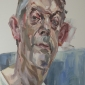 'Clive looking down', oil on canvas, 60inches x 48inches, £8500.JPG