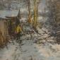Armfield-Diana-Sunshine-on-the-Snow,-David-by-the-Log-House.jpg
