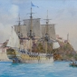 HMS Captain leaving Portoferraio, July 1796