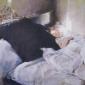 Olivia sleeping, 20 x 40, oil on canvas.JPG