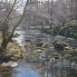 River Derwent, Borrowdale, Oil 18x27.5ins, by Peter Barker.JPG