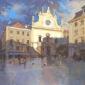 Evening Shadows. The Church of San Domingos, Lisbon