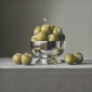 Lucy McKie Silver Bowl with Greengages