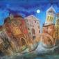 'Ponte Veneziano' mixed media painting by Rosa Sepple