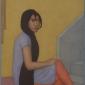 'Maya's Long Hair' watercolour painting by Shanti Panchal