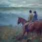 Horses in Morning Mist by Frances Bell Buy Art