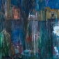 """""""Fireworks In The City"""" Acrylic and Oil painting by Julie Held"""