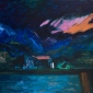"""""""In the Night"""" Acrylic and Oil painting by Julie Held"""