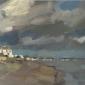 """""""Sky, Bathurst"""" Oil on Panel by Benjamin Hope"""