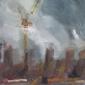 Lots Road Power Station from Battersea Bridge by Rebecca Hathaway