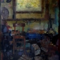 """Studio in Afternoon Light"" Oil on Linen by Bernadett Timko"