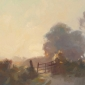 """Gate Way at Sunset"" Oil on Board by Frances Bell"