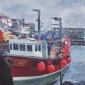 """The Provider, Mevagissey"" Acrylic on Canvas by Glen Smith"