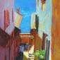 'Side Street, Varenna' pastel painting by Sheila Goodman