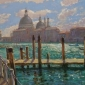 'The Grand Canal, Early Morning' pastel work by David Allen RSMA
