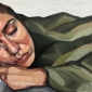 'Sleeping' oil on canvas by Ania Hobson