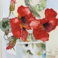 'Put on your Red Shoes' watercolour painting by Lyn Evans