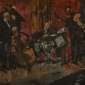 """""""Jazz Band"""" Oil on Board by Anthony Yates"""