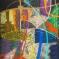 'Escape' abstract pastel drawing by Jenny Westbrook