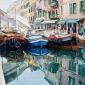 'Market at San Gioaccino' watercolour painting by Brian Robinson