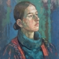 'Lana' oil painting by Bernadett Timko
