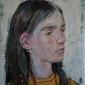 'Sam' oil painting by Bernadett Timko
