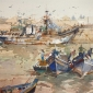 Essaouira Loading The Catch by Geoffrey Wynne