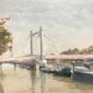 'Albert Bridge' oil painting by Clare Bowen