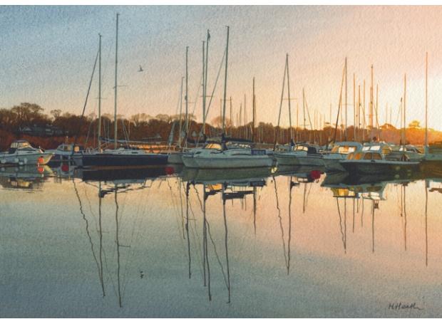 Heath-Margaret-Winter Sunrise, Lymington Quay.jpg